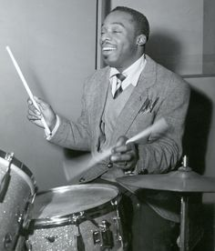 Kenny Clarke - was a major innovator in the modern jazz era.  He pioneered a time change when he experimented with moving the beat from the hi-hat to the ride cymbal.  This opened up the drum kits potential and made jazz more flexible.  After hour jam sessions at Mintons laid the foundations of music that was to become bebop.  Clarke went on to form the Modern Jazz Quartet with John Lewis, Milt Jackson, and Ray Brown.