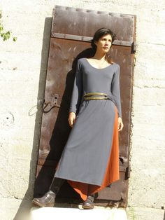 Wrap dress maxi length dress Tibetan dressWomens dress by SHIHAR