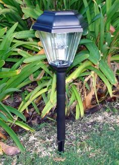 LampLust Small Solar Rock Path Light Yard and Walkway Dawn to Dusk Timer Frosted Glass Stone with White LED Batteries Included for Garden
