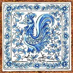 Barcelos rooster tile in Portugal.