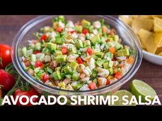 This Avocado Shrimp Salsa Recipe is a party favorite! Loaded with shrimp, avocado and a surprising ingredient. Similar to a shrimp ceviche recipe and so fresh. Shrimp Ceviche, Shrimp Avocado, Avocado Chicken Salad, Shrimp Salad, Avocado Salad, Pasta Salad, Shrimp Salsa Recipe, Ceviche Recipe, Appetizer Recipes