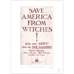 New Salem Philanthropic Society Propaganda Poster - MinaLima Store