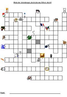 Zur Hälfte Kreuzworträtsel