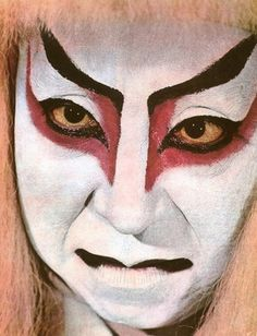 "Kabuki Masks | Example of Kabuki makeup, from the book ""Body Decoration"" (see the ..."