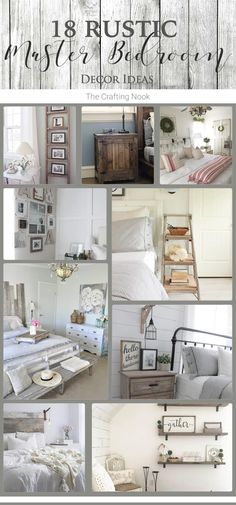 18 Rustic Master Bedroom Decor Ideas (that will invite you in A inspiring roundup filled with gorgeous ideas to decorate your bedroom. Check these 18 Rustic Master Bedroom Decor Ideas. Bedroom Nook, Rustic Master Bedroom, Home Decor Bedroom, Diy Home Decor, Bed Room, Bedroom Ideas, Master Room, Budget Bedroom, Master Bedrooms