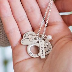 Pick the perfect charm for each of your loves and we'll personalize it just for you. Create your own one of a kind cluster of charms and keep them close to your heart. The hand-crafted charms are cast in sterling silver