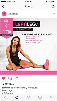 Fitmiss lean legs Jump Workout, Leg And Glute Workout, Leg Day Workouts, Fit Board Workouts, Workout Body, Exercise, Gym Workout Plan For Women, Lean Legs, Sweat It Out