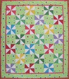 pinwheel quilts   Polka Dot Pinwheel Quilt — Free Pattern