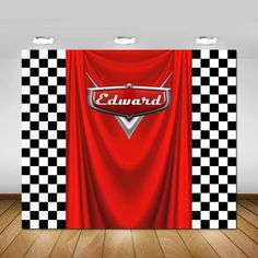 Cars Birthday Party Backdrop, Cars Party Decorations, Cars Party Banner, Backdrop, Poster, Sign, Banner, Birthday Party, Checkers, 72x60'' by STYLEMEMIAMIADESIGN on Etsy https://www.etsy.com/listing/547281110/cars-birthday-party-backdrop-cars-party