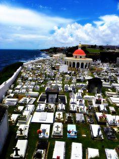 a cemetery in San Juan near El Morro. Puerto Rico