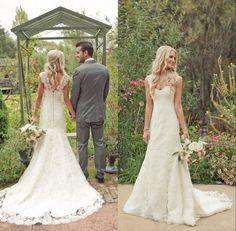 Trouver plus Robes de mariée Informations sur Country Style Vintage dentelle…