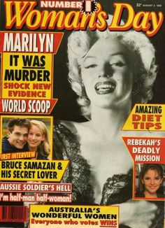 Woman's Day - August 3rd 1992, magazine from Australia. Front cover photo of Marilyn Monroe by Ernest Bachrach, 1952