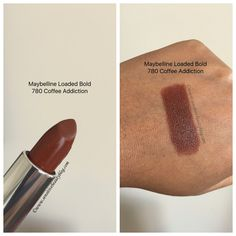 Maybelline loaded bolds lipstick coffee addiction
