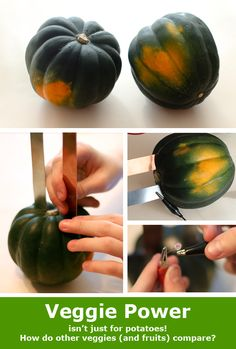"""Squash Power"": potatoes are not the only veggies that can be used in a circuit! [Source: Science Buddies, http://www.sciencebuddies.org/blog/2014/12/squash-power.php?from=Pinterest] #STEM #veggiepower #potatobattery #scienceprojects"