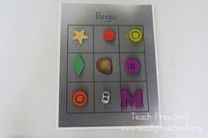 playing bingo preschool shape, fun game