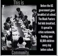 This is Black Panthers because this group had fed children and ran medical clinics for those who needed it before the government did in schools. Even though they only fed children for bullets, the group was doing good to create bad.