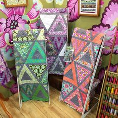 My trio of #TulaPinkChipper Chopsticks quilts hanging out in #TulaPink's…
