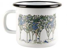 Muurla Elsa Beskow Blueberries enamel mug 2,5 dl