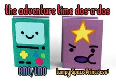 Free Tutorial: The last set of Adventure Time notebook characters :D BMO & Lumpy Space Princess #diy #sewing