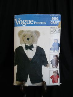 Vogue 9093 or 610 pattern for clothing for Vogue Bear (8658/569); clothing only, does not include bear by designer Linda Carr have more fun with