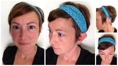 Kibbles 'N Knits: How to make a headband from a fabric book cover