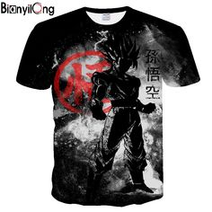 Dragon Ball t shirts black | Men Summer – Boheki