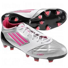 Adidas F50 Adizero Fg White/Silver/Pink Leather Soccer Cleats Women Shoes v21440 (9) adidas. $149.99