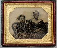 Antique Daguerreotype in Original Frame Grandmother Granddaughter No Reserve | eBay