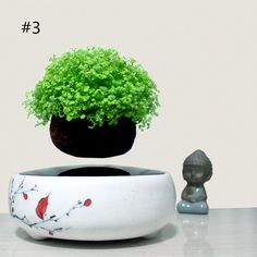 2016 japan high-tech products magnetic levitation air bonsai (no plant)ceramic flower pot culture 101 free shipping - free shipping worldwide