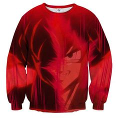 Dragon Ball Son Goku Portrait Japanese Anime Full Print Sweatshirt    #DragonBall #SonGoku #Portrait #JapaneseAnime #FullPrint #Sweatshirt