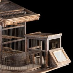 Hamster / Bird Cage | From a unique collection of antique and modern architectural models at http://www.1stdibs.com/furniture/more-furniture-collectibles/architectural-models/