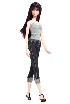 Model No. 05 — Collection 002 ~~ This season, denim is all the fashion rage!  Who better to rock the denim look than the Barbie Basics™ dolls? Wearing the latest styles with plenty of sass & attitude, these girls (& guys!) know how to strike a pose & turn heads. Featuring for the first time 3 ruggedly handsome male models as well as a bevy of breathtaking beauties, personalization and play has never been more stylish, fun, or fabulous!