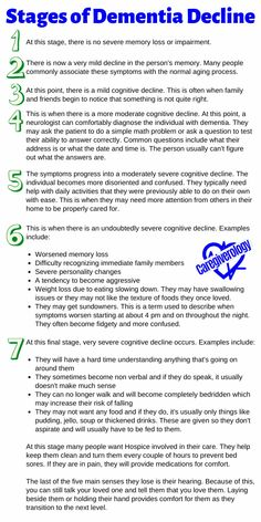 7 Stages of Dementia Decline Dealing With Dementia, Stages Of Dementia, Lewy Body Dementia, Vascular Dementia, Dementia Care, Alzheimer's And Dementia, Dementia Quotes, Alzheimers Quotes, Alzheimers Activities
