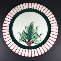 """Gail Pittman HOLLYLUJAH Dinner Plate 11"""" Signed and Dated Christmas China Dishes  