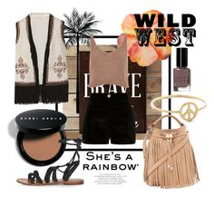 """Wild Wild West"" by laurenleigh-bee on Polyvore featuring Bobbi Brown Cosmetics, Talitha, River Island, Topshop, Forever 21, wild, western, vibes, polyvoreeditorial and west"
