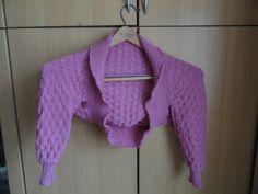 Ravelry: HilaryGermany's Elisabeth's Shrug (machine knitting notes)