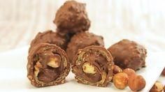Nougat-Pralinen wie Rocher selber machen, ein raffiniertes Rezept aus der Kategorie Konfiserie.