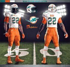 Dolphin Miami New NFL Uniforms   Miami Dolphins Under Armour NFL uniform concept designs [Photos ...