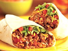 Sausage 'n Bean Burritos