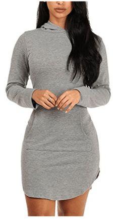 Sidefeel Sweatshirt Dresses Women Sleeve, Grey Hoodie, Long Sleeve Mini Dress, Hoodies, Sweatshirts, Sweatshirt Dress, Casual Shirts, Womens Fashion, Outfits