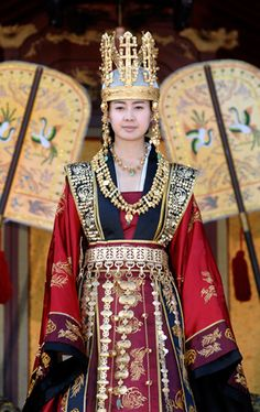 Korean TV drama scene, Queen Seondeok of Silla dynasty