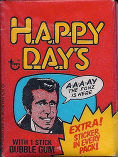 Happy Days Wax Pack Trading Cards by Topps, 1976