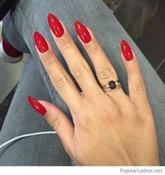 My sweet red nails and rings