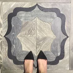 From where I stand, French oak parquet.