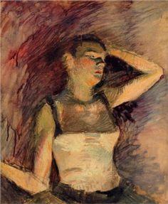Study of a Dancer - Henri de Toulouse-Lautrec 1888
