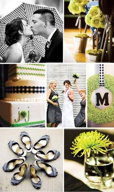 green black and white...    A little bit country?    brides.com