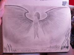 My art draw flying human