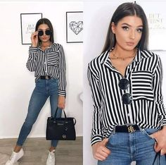 Blusa a rayas pantaln de mezclilla tenis blancos outfits tenis lounge on bralet + jumper + joggers the ultimate comfort combo brand new waiting to be made yours! Street Style Outfits, Mode Outfits, Casual Outfits, Fashion Outfits, Womens Fashion, Fashion Trends, Winter Mode, Mode Hijab, Looks Style