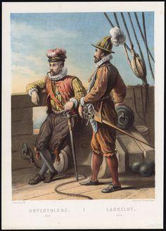 The Prints Collector :: Antique Print-JAN VAN DUIVENVOORDE-LANCELOT VAN BREDERODE-NETHERLANDS-1872
