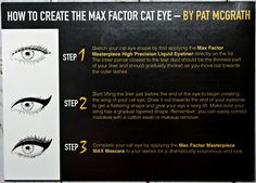 How To Create the Max Factor Cat Eye by Pat McGrath